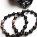 Unconditional Love and Protection - 2 bracelets rhodonite and matt onxy