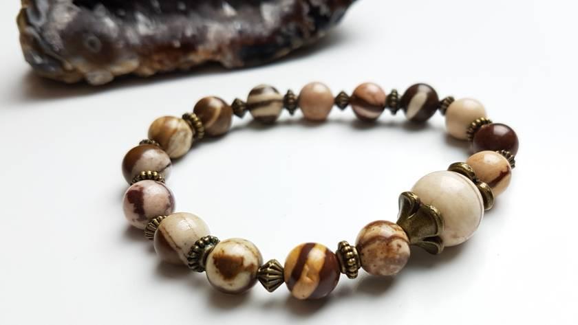 Take Action -Zebra Jasper bracelet.