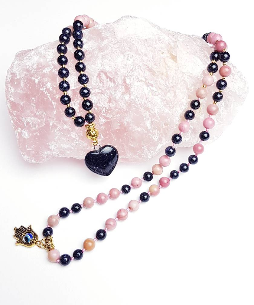 SALE Follow your true hearts desires - 108 bead hand knotted mala