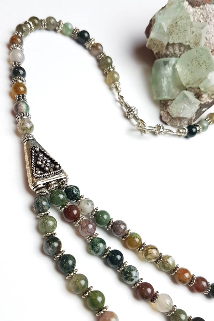 SALE - Harmony - Indian Agate Necklace