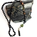 Protection and Strength- 108 hand knotted mini mala with tourmaline pendant