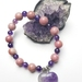 Abundant Love - Amethyst and Rhodocrosite bracelet.