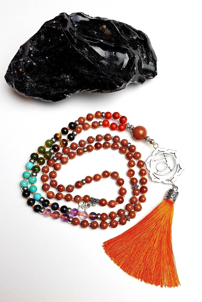 I Am Creative - Swadisthana Sacral Chakra 108 hand knotted mala
