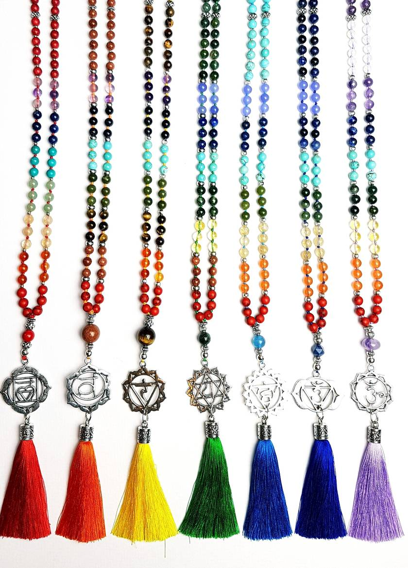 I Am Clear - Ajna Third Eye Chakra 108 hand knotted mala
