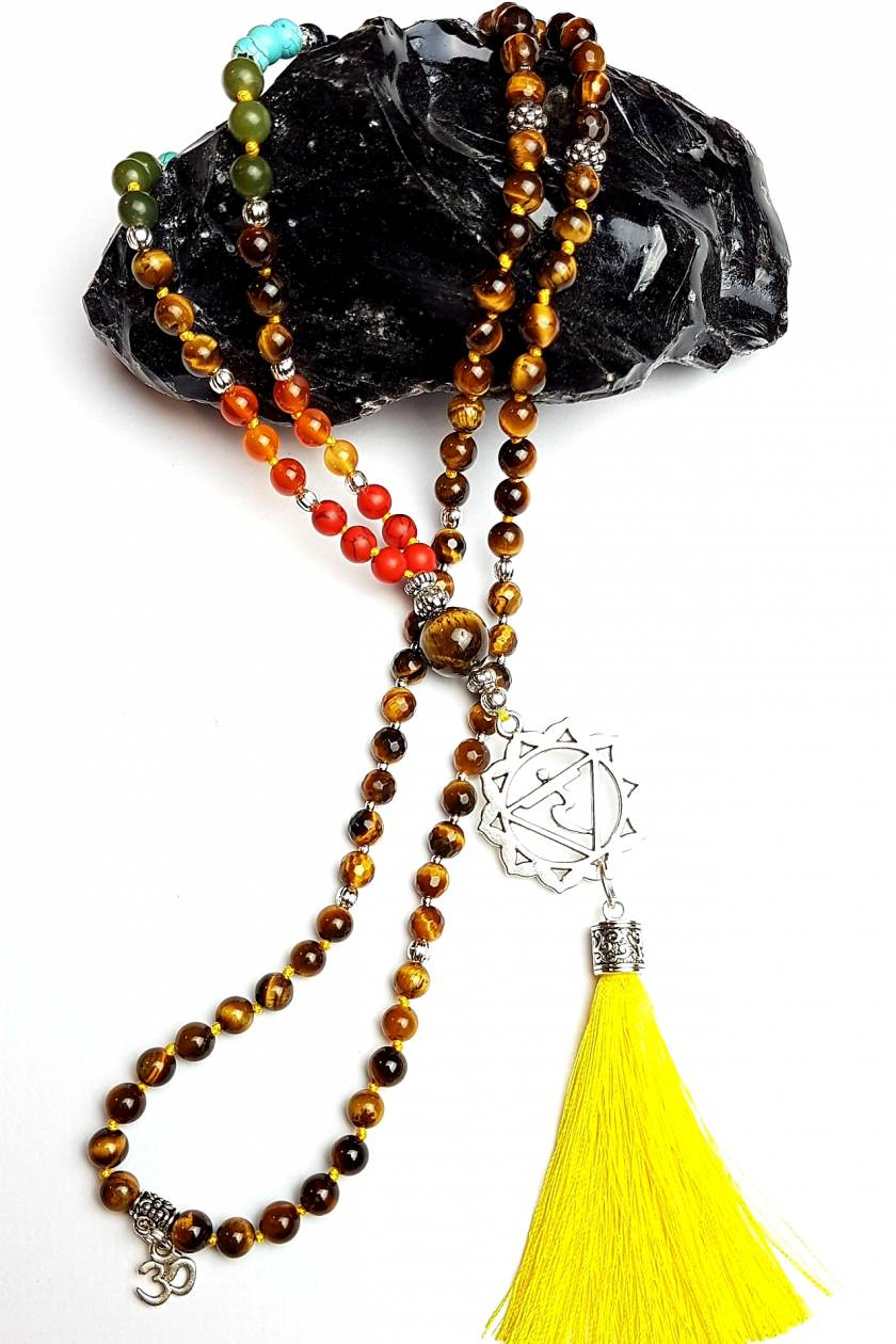 I Am Powerful - Manipura Solar Plexus Chakra 108 hand knotted mala