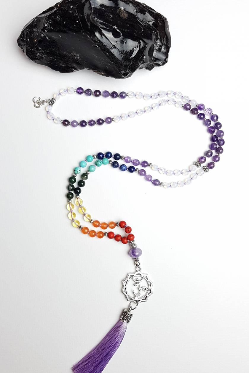 I Am - Sahasrara Crown Chakra 108 hand knotted mala