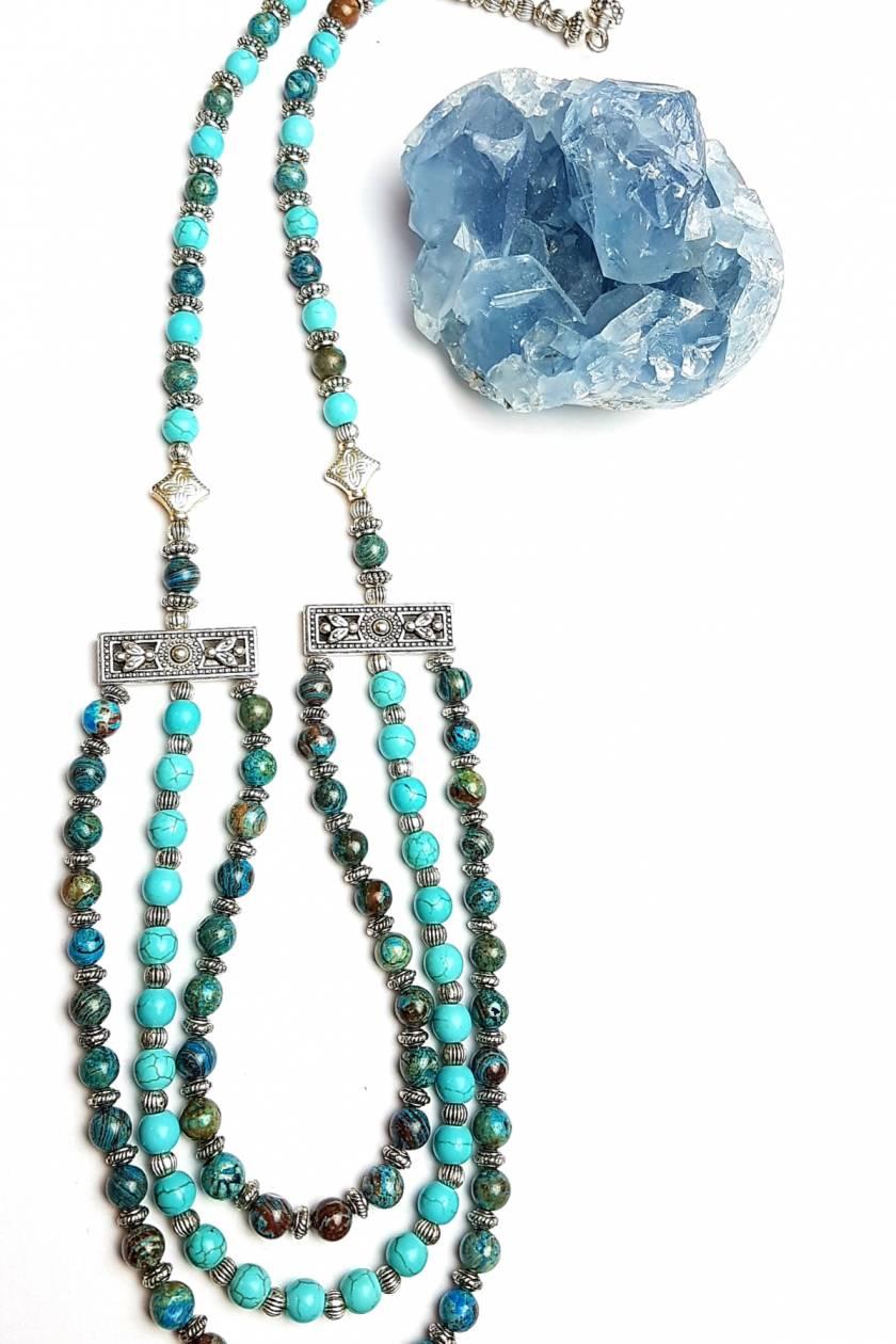 Wisdom and Peace - Jasper and Howlite Necklace