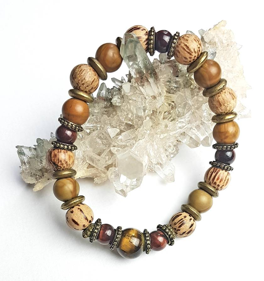 Power, wisdom, protection and wealth - Unisex chunky bracelet