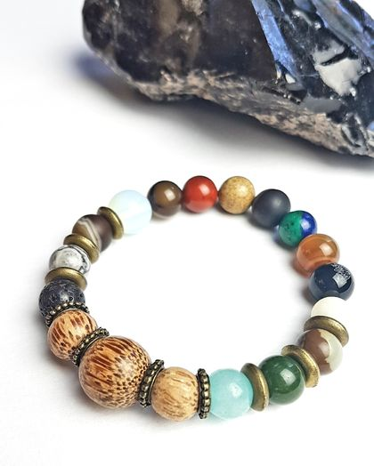 Joy, discovery and adventure - Unisex chunky bracelet