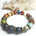 Grounding, travel, adventure, abundance - Unisex chunky bracelet