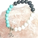 Peace, Stability and Awareness - howlite and basalt bracelet.
