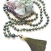 """I am Eternally Abundant"" - 108 bead nephrite jade (greenstone) hand knotted mala (made to order)"