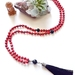 Calm and Grounded -108 bead hand knotted mala with long tassel