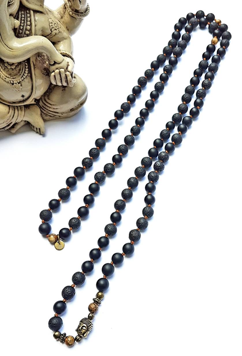 Truth, Transformation and Awareness 108 hand knotted mala