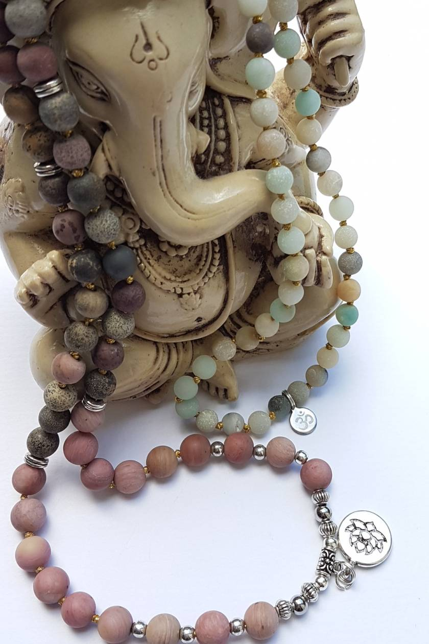Love Heals All - 108 hand knotted mala.