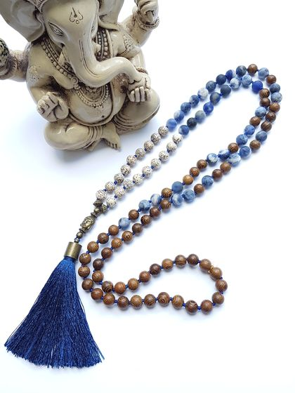 Truth, Intuition and Spiritual Prosperity -108 bead mala.