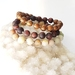 Grounded - stretch faux mala bracelet - made to order.