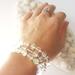 Rainbows - stretch faux mala bracelet - made to order.