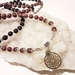Earth and fire - elasticated mala