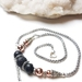 Manifesting Your Dreams - hematite and basalt diffuser necklace.