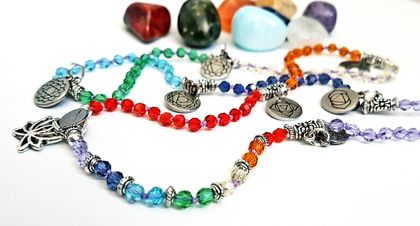 Hand knotted 108 Chakra Mala Bracelet - Small size (other sizes made to order)