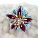 Tsumami flower brooch -Passion Flower