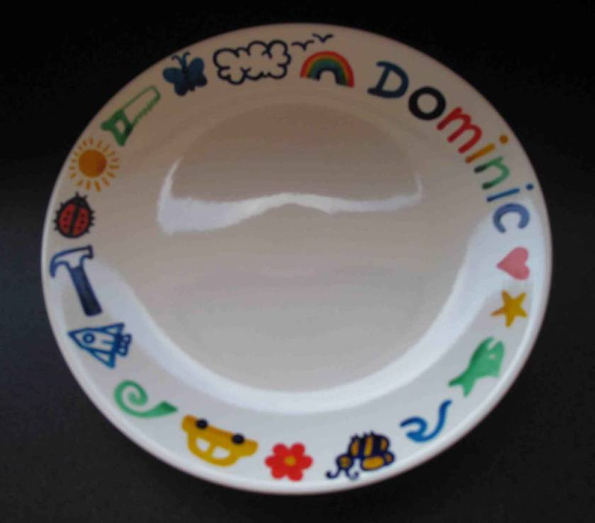 Childrenu0027s plates - handpainted and personalised & Childrenu0027s plates - handpainted and personalised | Felt