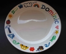 Children's plates - handpainted and personalised