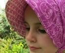 Retro-style baby sunhats/bonnets