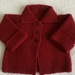 Hand knitted woollen jacket