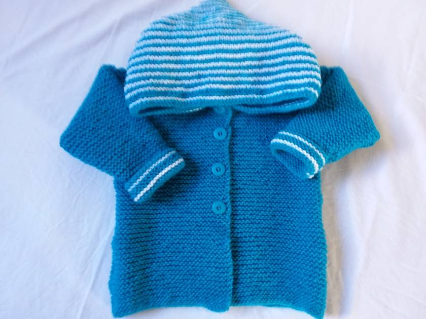 Knitted  Baby hoodie