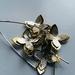 Layered 4Petal Flower Charm Earrings – Sterling Silver + Brass
