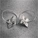 Single Tumbling Flower Hoop Earrings – Sterling Silver