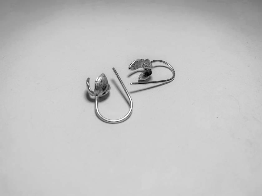 Everyday Earrings - Stylised Snowdrop flowers in Sterling Silver