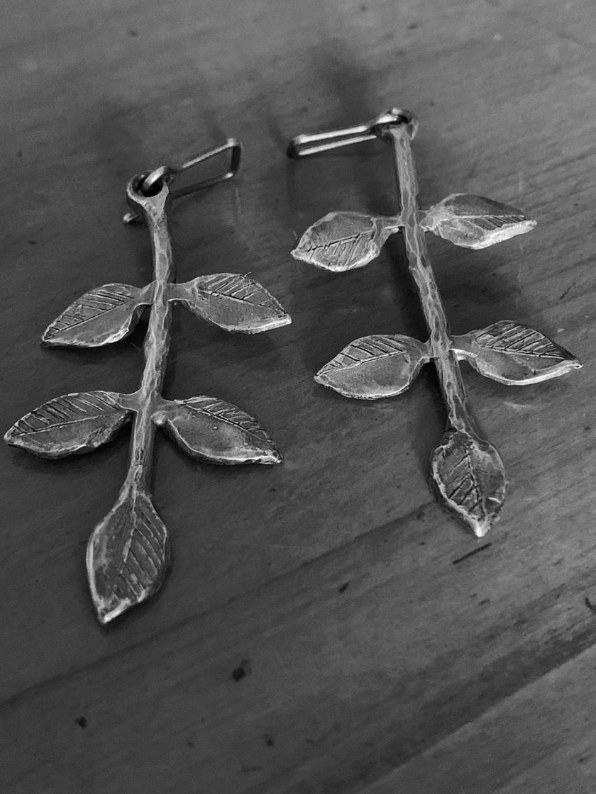 Modern Botanical Leaf Earrings