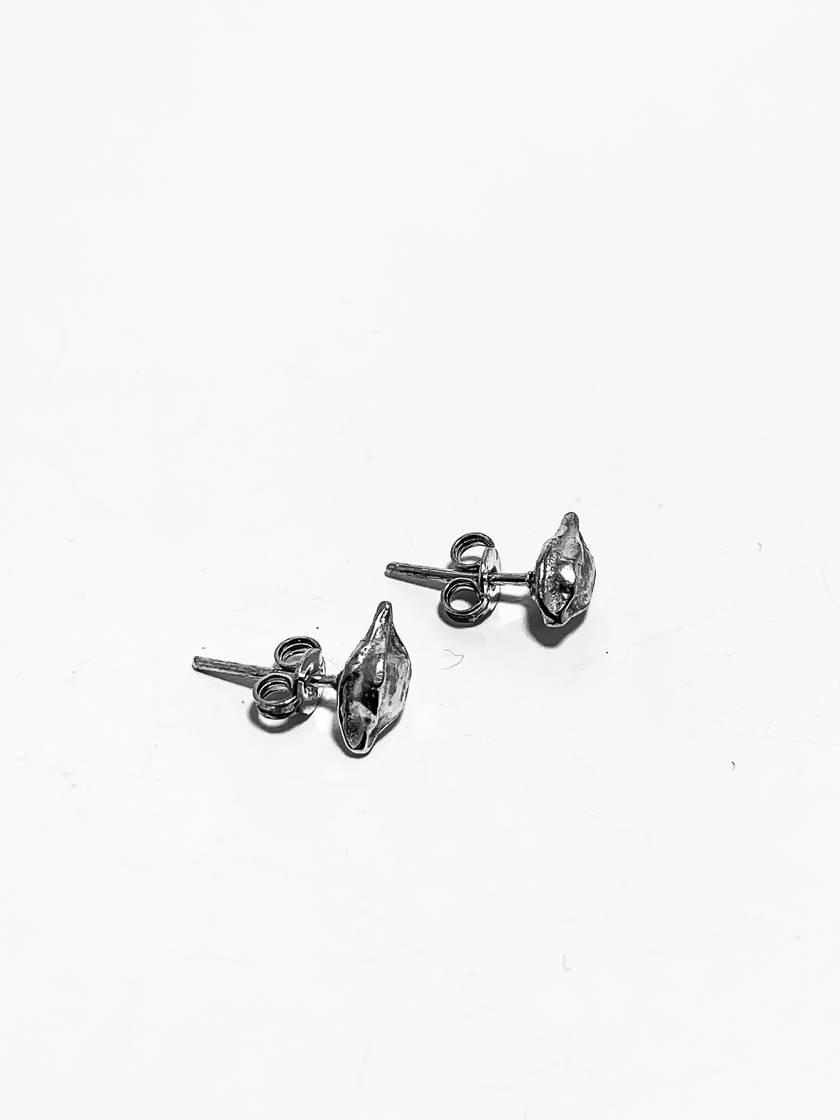 Silver Kowhai Seed Pod Earrings
