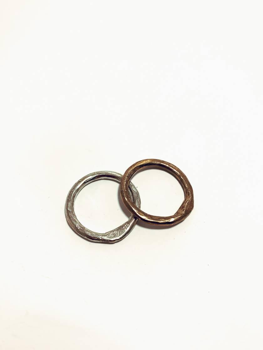 Pair of Organic Circle Stacking Rings