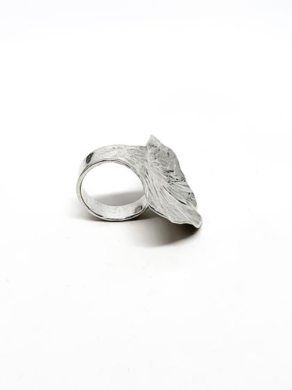 Ginkgo Leaf Band IN STERLING SILVER - ON SALE at $195 down from $250