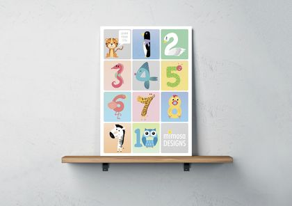 - A3 '123' print - By Mimosa Designs
