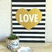 - A3 'LOVE' metallic gold print - By Mimosa Designs