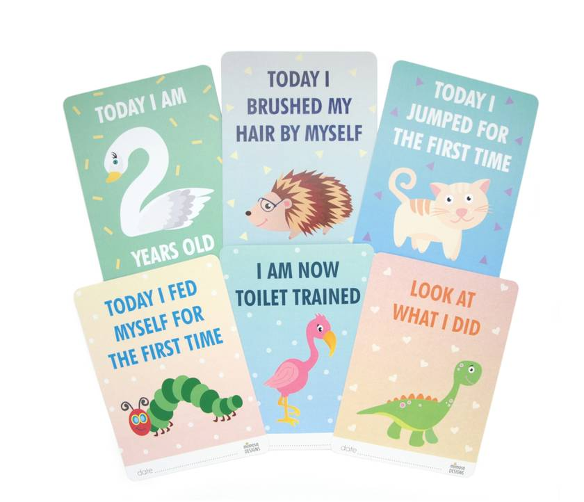 Mimosa Toddler Cards - 32 toddler milestone cards for 1-3 year olds