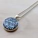 Glass Glitter Pendant necklace