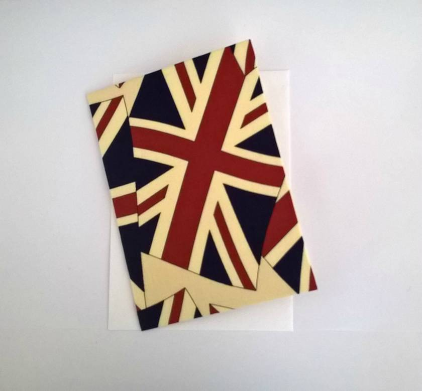 Union Jack Fabric Covered Card
