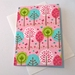 Fabric Covered Greeting Card