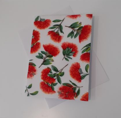 Fabric Covered Christmas Card
