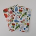 Fabric Covered Greeting Cards x3