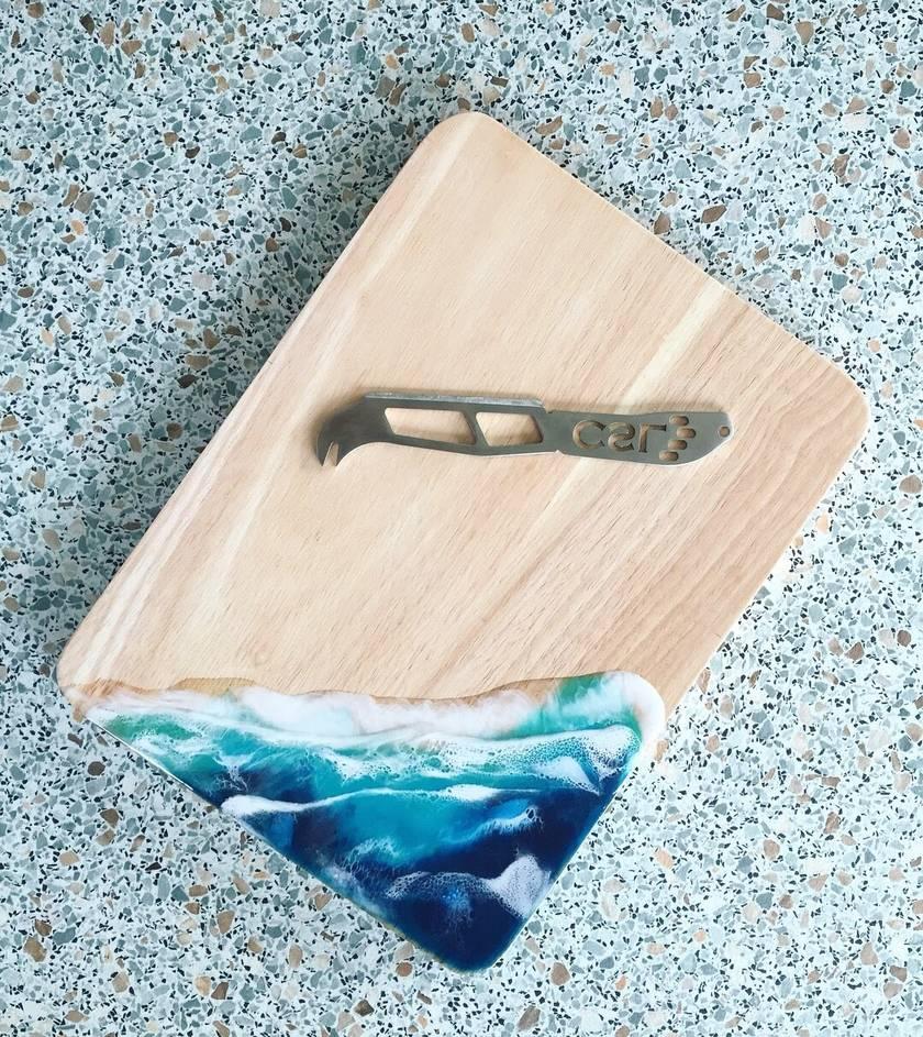Beach theme artesian serving or cheese board