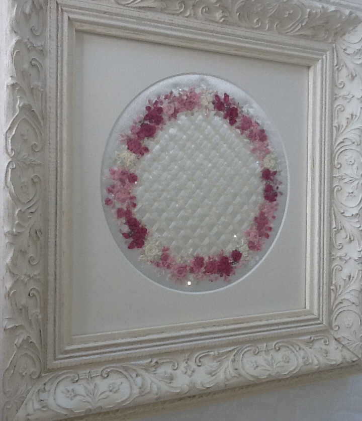 Silk Ribbon Hand Embroidered Picture  Felt