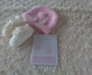 Gift Boxed 100% Merino Hat and Booties-0-3 months