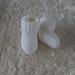 Hand Knitted Merino Baby Socks- White